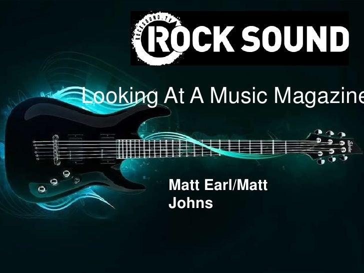Looking At A Music Magazine        Matt Earl/Matt        Johns