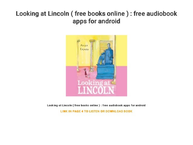 Looking at Lincoln ( free books online ) : free audiobook
