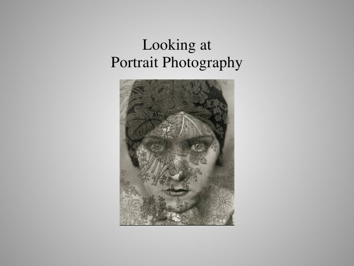Looking at Portrait Photography