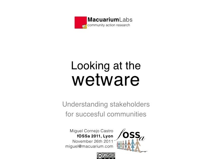 MacuariumLabs!          community action research  Looking at the                         wetwareUnderstanding stakehold...
