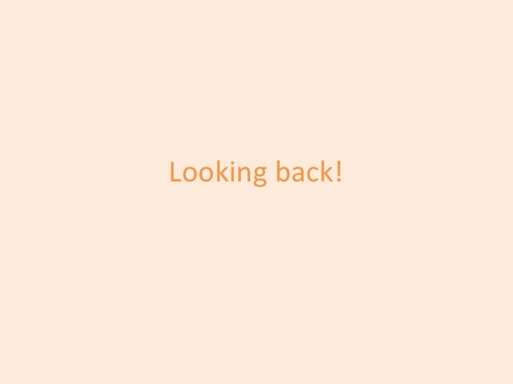 Looking back!