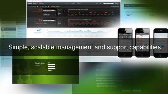 © 2016 Citrix | Confidential Simple, scalable management and support capabilities