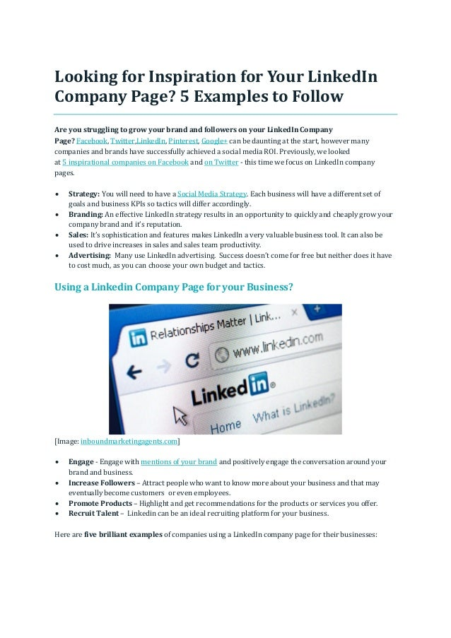 Looking for Inspiration for Your LinkedIn Company Page? 5 Examples to Follow Are you struggling to grow your brand and fol...