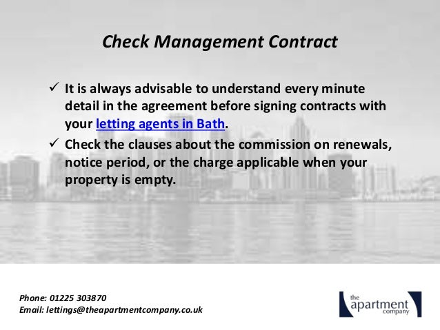 Looking for letting agents in bath 5 quick tips for landlords 5 check management contract platinumwayz