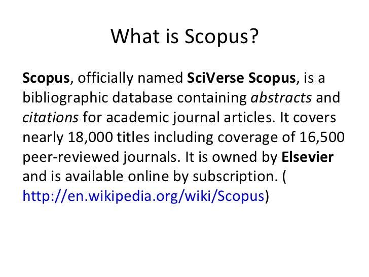 Looking for scopus journals Slide 2