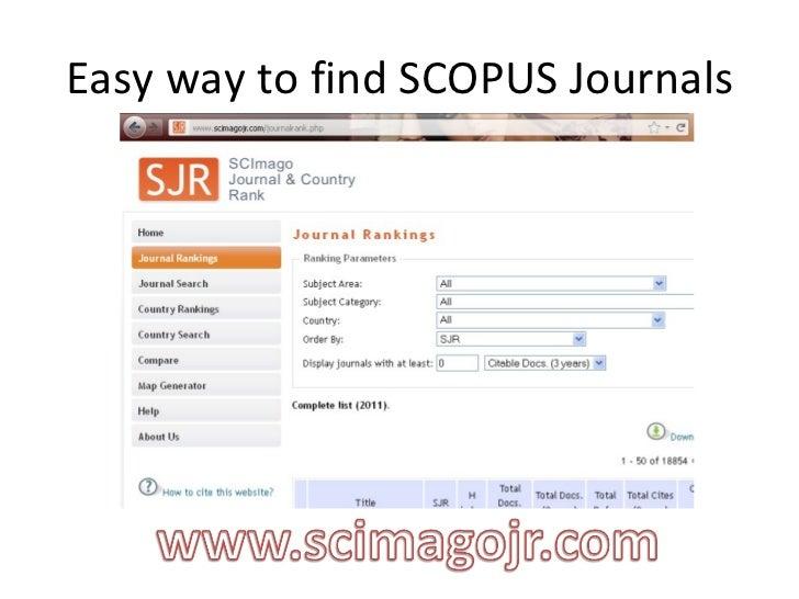 Easy way to find SCOPUS Journals