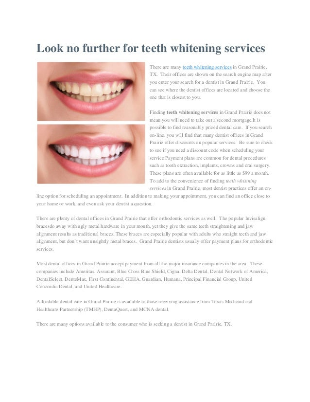 Look no further for teeth whitening services