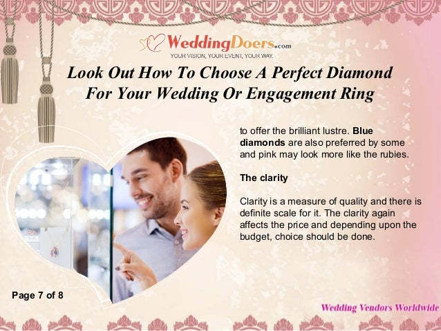 Look out how to choose a perfect diamond for your wedding ...