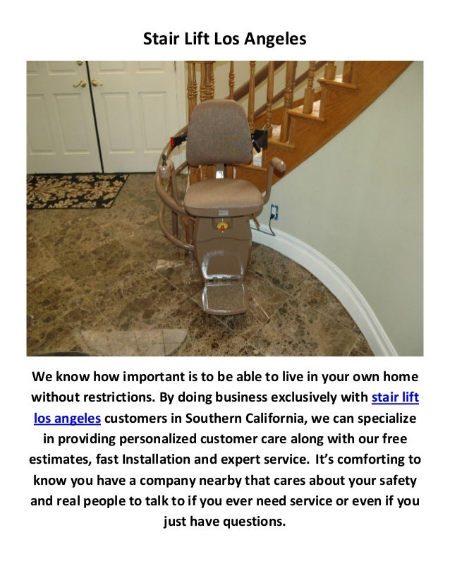 Stair Lift Los Angeles ...
