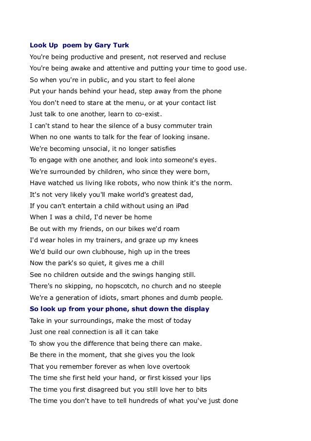 Look Up Poem