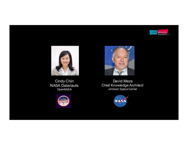 David Meza Chief Knowledge Architect Johnson Space Center Cindy Chin NASA Datanauts OpenNASA