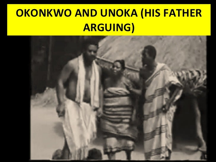 things fall apart by chinua achebe okonkwo and unoka his father arguing
