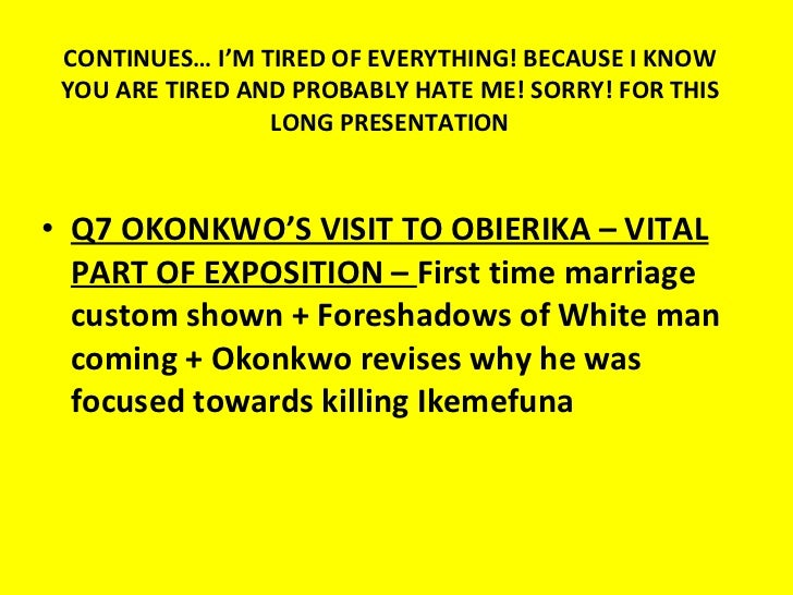 a comparison of okonkwo and obierika in things fall apart by chinua achebe By chinua achebe things fall apart on amazoncom  chinua achebe intended this book as a riposte to conrad's heart of darkness, but a more apt comparison.