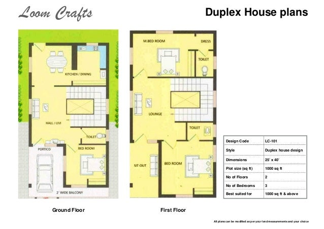 Duplex House Plans Design ...