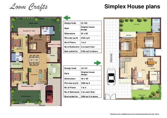 Home Design 20 X 45