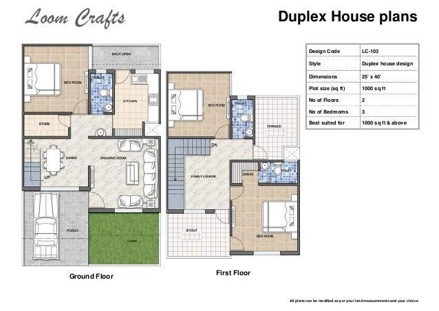 Duplex House Plans Design ...