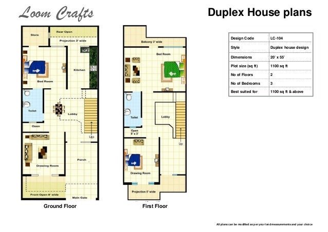 ... 5. Duplex House Plans Design ...