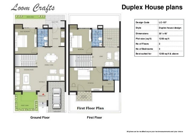 Ground floor house plans 1200 sq ft gurus floor for Duplex house plans 1200 sq ft