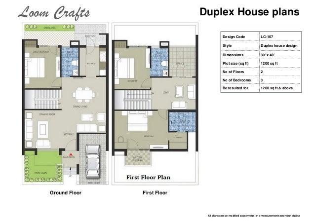 Duplex House Plans ...