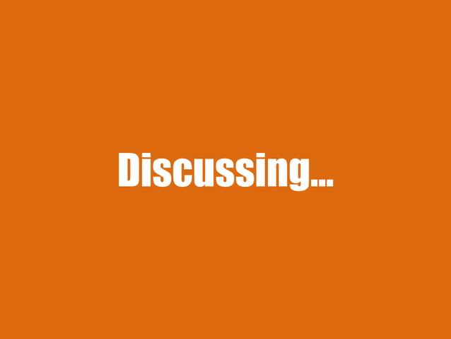 Discussing…