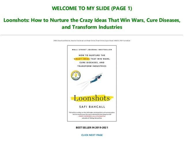 Loonshots pdf free. download full