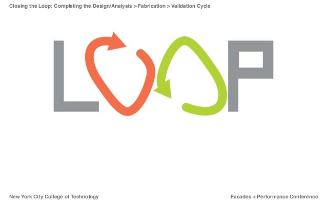 Closing the Loop: Completing the Design/Analysis > Fabrication > Validation CycleNew York City College of Technology      ...