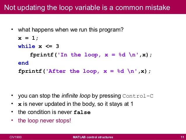 while loop in matlab pdf