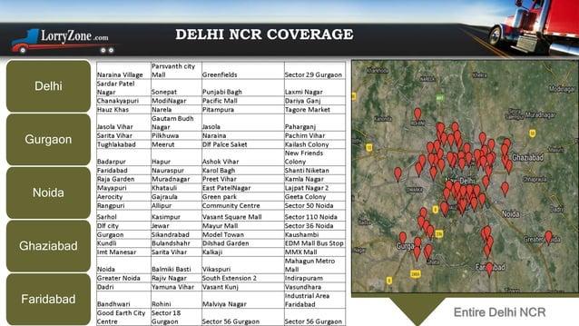 Delhi Gurgaon Noida Ghaziabad Faridabad DELHI NCR COVERAGE