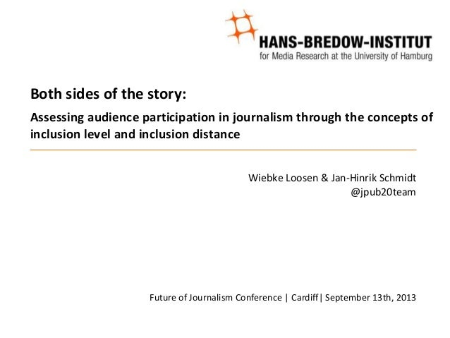 Both sides of the story: Assessing audience participation in journalism through the concepts of inclusion level and inclus...