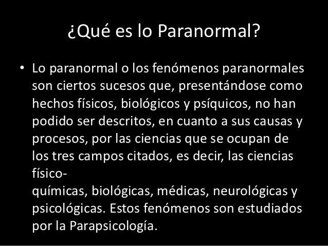 paranormal q es