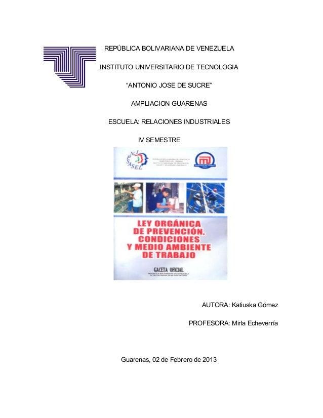 """REPÚBLICA BOLIVARIANA DE VENEZUELAINSTITUTO UNIVERSITARIO DE TECNOLOGIA       """"ANTONIO JOSE DE SUCRE""""        AMPLIACION GU..."""