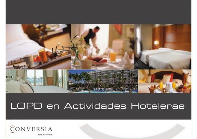 LOPD en Actividades Hoteleras