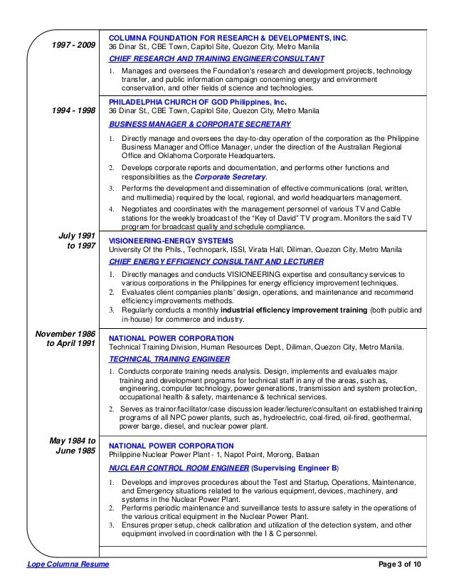 lope columna comprehensive resume 3