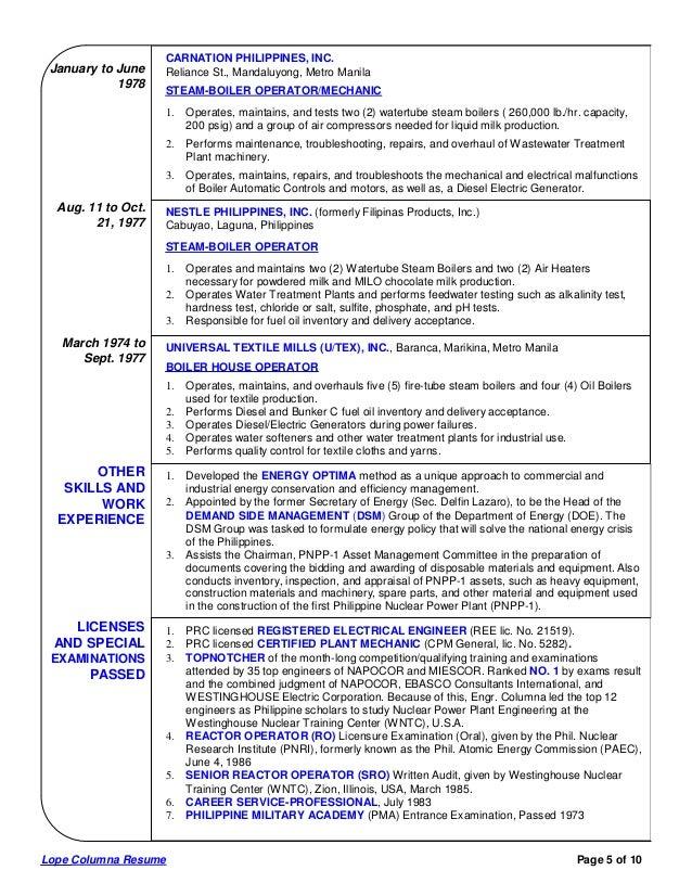 lope columna comprehensive resume 3