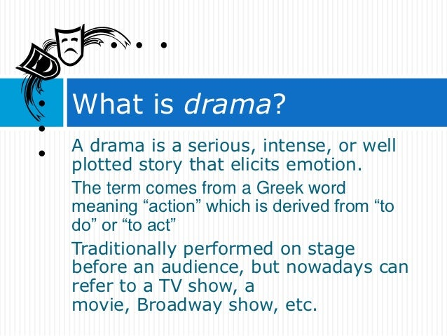 types of drama in literature