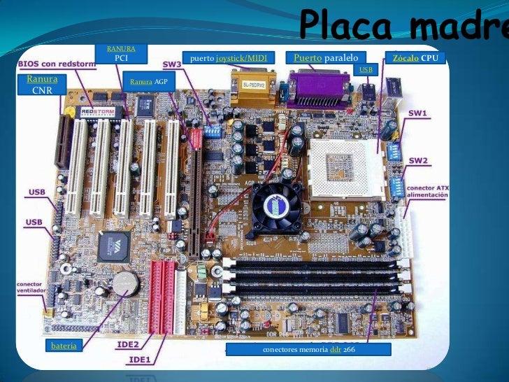RANURA                                                              Placa madre               PCI                puerto jo...