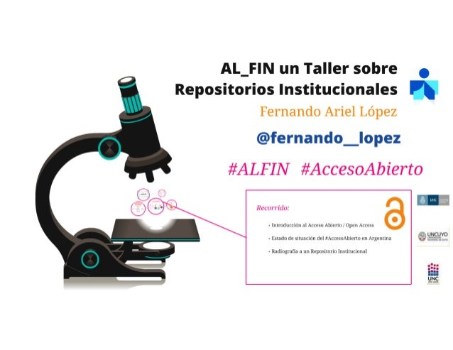 AL-FIN un taller sobre Repositorios Institucionales (parte 1)