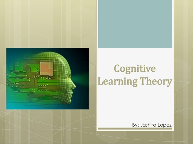 Cognitive Learning Theory  By: Jashira Lopez