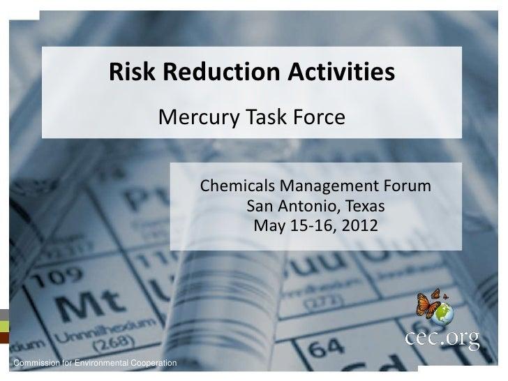 Risk Reduction Activities                                   Mercury Task Force                                           C...