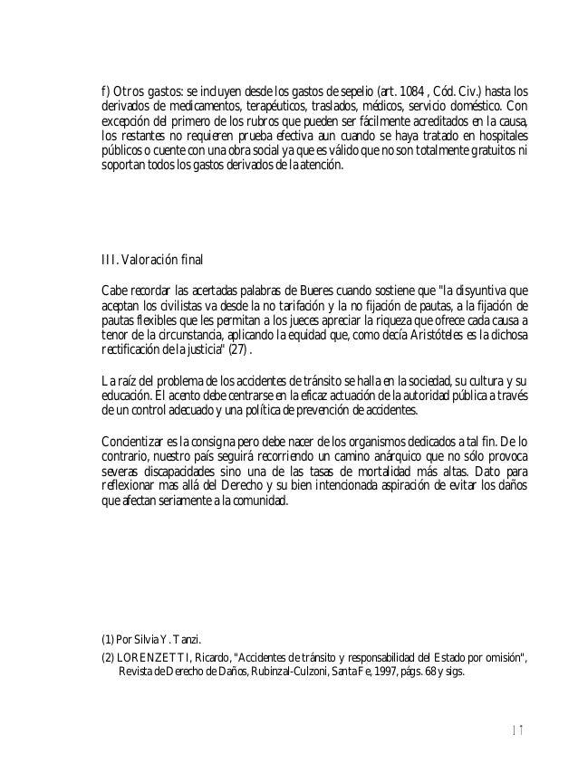18 (3) Para ampliación del tema ver MOSSET ITURRASPE, Jorge - ROSATTI, Horacio, Derecho de Tránsito, Rubinzal-Culzoni,Sant...
