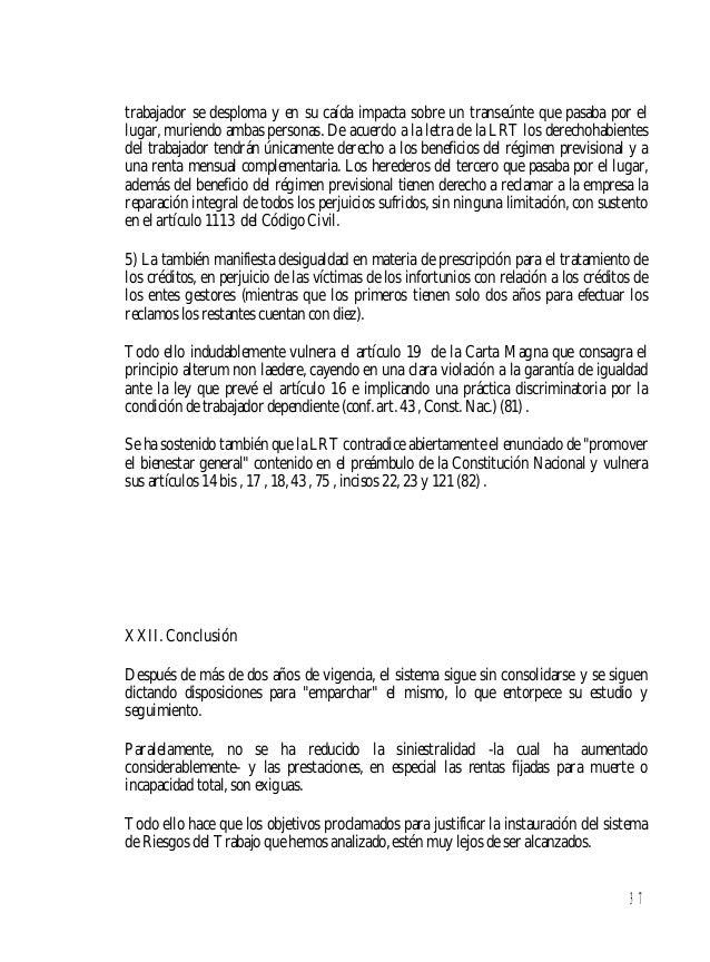 38 (28)Por Ricardo C. Beati. (29) Conf.diario Clarín,eds. del6-I-1997, pág.16;y14-I-1997,pág.6. (30) Conf. Orgaz, Alfredo,...