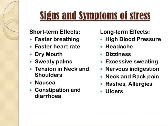 the long term effects of stress essay The effects of stress on your body in this article in this article forty-three percent of all adults suffer adverse health effects from stress seventy-five percent to 90% of all doctor's office visits are for stress-related ailments and complaints.