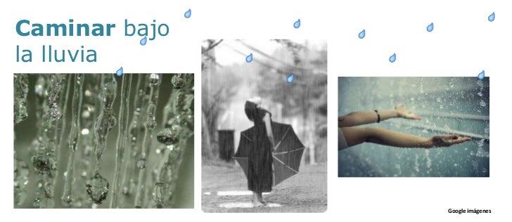 Caminar bajo <br />la lluvia<br />Google imágenes<br />