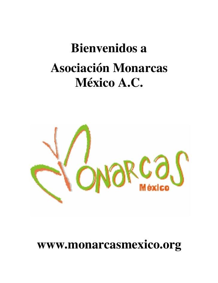 Bienvenidos a  Asociación Monarcas      México A.C.www.monarcasmexico.org