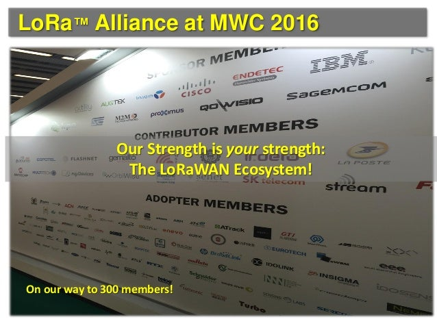 LoRa Alliance at MWC 2016