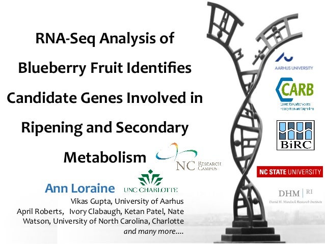RNA-‐Seq  Analysis  of   Blueberry  Fruit  Identifies   Candidate  Genes  Involved  in   Ripening  a...