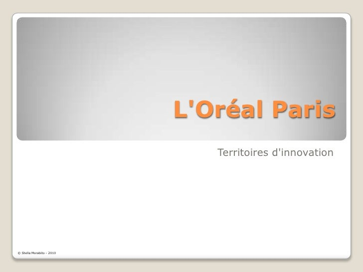 L'Oréal Paris<br />Territoires d'innovation<br />