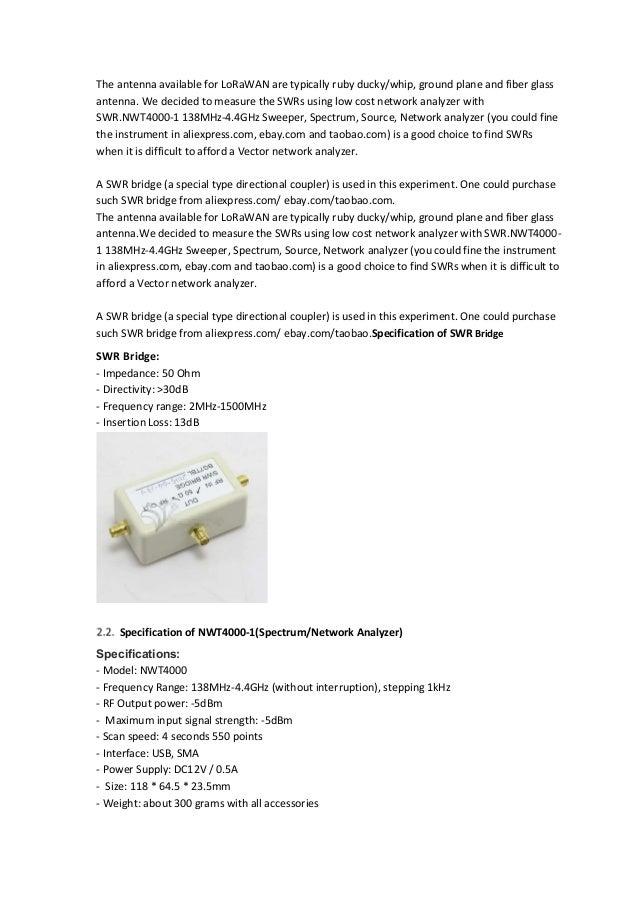 1 MHz to 2700 MHz VSWR measuring bridge
