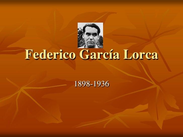 Federico García Lorca<br />1898-1936<br />