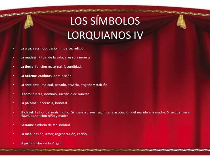 SIMBOLOGÍA DEL TEATRO DE F.G. LORCA